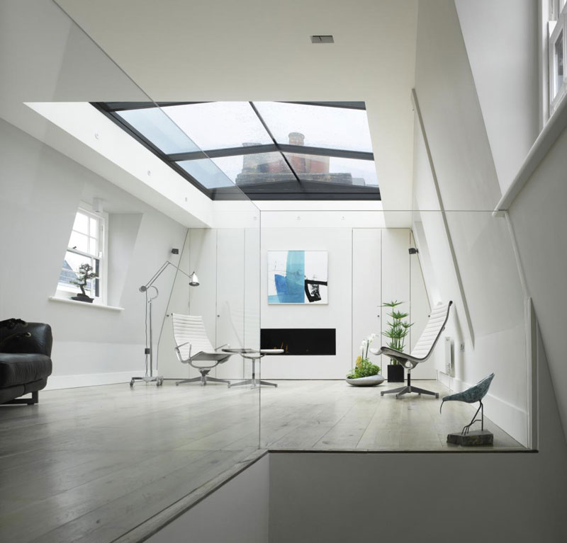 London House With A Retractable Glass Roof.
